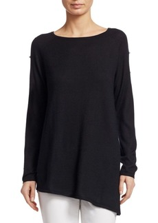 TSE Cashmere Pearl-Sleeve Top