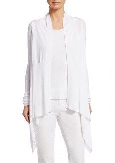 TSE Draped Cotton Cardigan