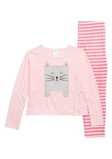 Tucker and Tate Tucker + Tate Appliqué Two-Piece Pajamas (Toddler Girls, Little Girls & Big Girls)