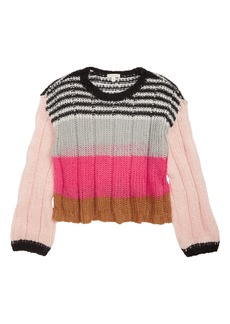 Tucker and Tate Tucker + Tate Bubble Sleeve Stripe Sweater (Big Girls)