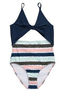 Tucker and Tate Tucker + Tate Colorblock One-Piece Swimsuit (Big Girl)