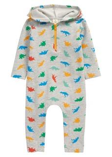 Tucker and Tate Tucker + Tate Dinosaur Print Hooded Fleece Romper (Baby)