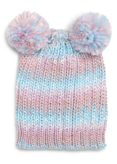 Tucker and Tate Tucker + Tate Double Pompom Chunky Knit Beanie