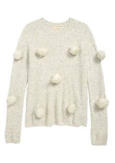 Tucker and Tate Tucker + Tate Faux Fur Pompom Sweater (Big Girls)