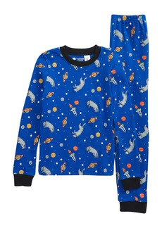 Tucker and Tate Tucker + Tate Glow in the Dark Fitted Two-Piece Pajamas (Toddler Boy, Little Boy & Big Boy)