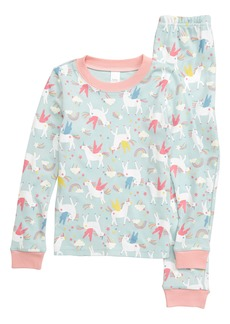 Tucker and Tate Tucker + Tate Glow in the Dark Fitted Two-Piece Pajamas (Toddler Girl, Little Girl & Big Girl)