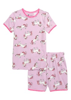 Tucker and Tate Tucker + Tate Glow in the Dark Fitted Two-Piece Pajamas (Toddler, Little Girl & Big Girl)