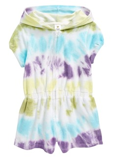 Tucker and Tate Tucker + Tate Kids' Tie Dye Terry Cover-Up Romper (Toddler, Little Girl & Big Girl)