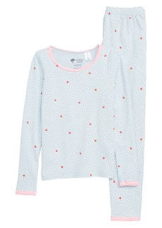 Tucker and Tate Tucker + Tate Lace Trim Fitted Two-Piece Pajamas (Little Girls & Big Girls)