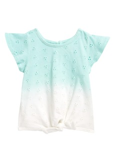 Tucker and Tate Tucker + Tate Ombré Eyelet Ruffle Sleeve T-Shirt (Baby)
