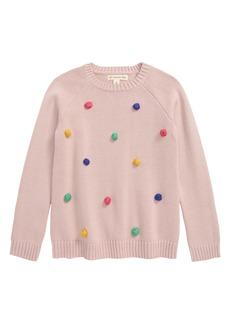 Tucker and Tate Tucker + Tate Pompom Sweater (Toddler, Little Girl & Big Girl)