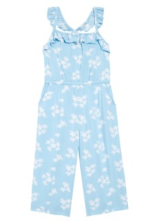 Tucker and Tate Tucker + Tate Print Ruffle Jumpsuit (Toddler, Little Girl & Big Girl)
