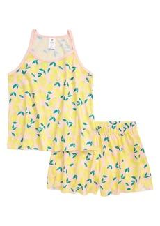 Tucker and Tate Tucker + Tate Print Two-Piece Pajamas (Little Girl & Big Girl)
