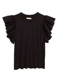 Tucker and Tate Tucker + Tate Ruffle Sleeve T-Shirt (Big Girl)