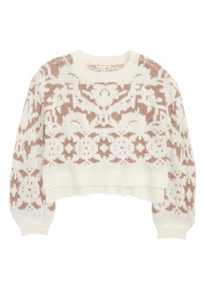Tucker and Tate Tucker + Tate Sparkle Crop Jacquard Sweater (Big Girls)
