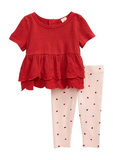 Tucker and Tate Tucker + Tate Spring Time Tiered Ruffle Top & Print Leggings Set (Baby)