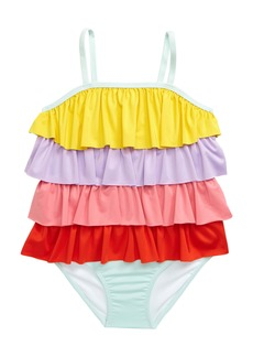 Tucker and Tate Tucker + Tate Tiered One-Piece Swimsuit (Toddler, Little Girl & Big Girl)