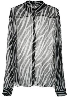 Tufi Duek animal print sheer shirt