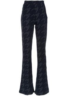 Tufi Duek pied de poule print flared trousers
