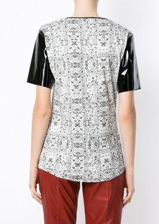 Tufi Duek printed panelled T-shirt