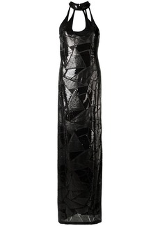 Tufi Duek sequin panels gown