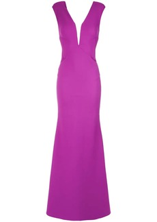 Tufi Duek sheer panel gown