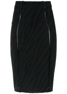 Tufi Duek animal print pencil skirt - Black
