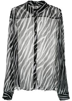 Tufi Duek animal print sheer shirt - Black