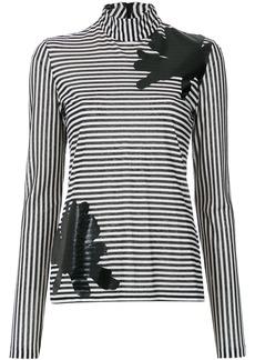 Tufi Duek applique longsleeved blouse - Black