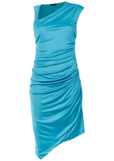Tufi Duek asymmetric draped dress - Blue