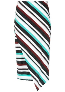 Tufi Duek asymmetric striped skirt - Multicolour