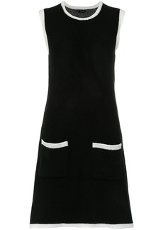 Tufi Duek bicolor A-line dress - Black