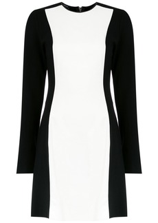 Tufi Duek bicolor longsleeved dress - Black