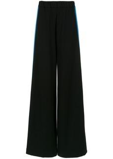 Tufi Duek bicolor palazzo trousers - Black