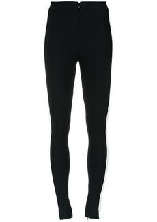Tufi Duek bicolor slim fit trousers - Black