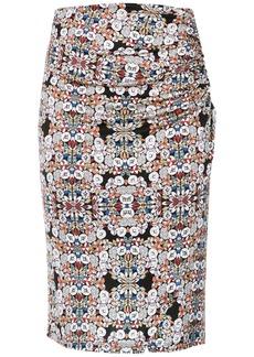 Tufi Duek draped straight skirt - Multicolour
