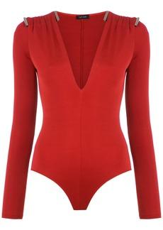 Tufi Duek embellished bodysuit - Red