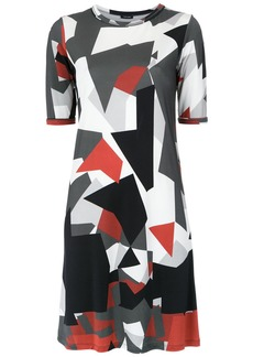 Tufi Duek geometric print shift dress - Multicolour