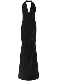 Tufi Duek halter neck gown - Black
