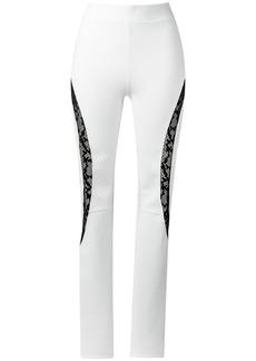 Tufi Duek lace panels trousers - White