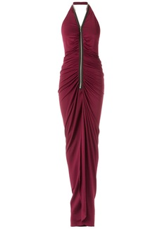Tufi Duek long halterneck gown - Unavailable