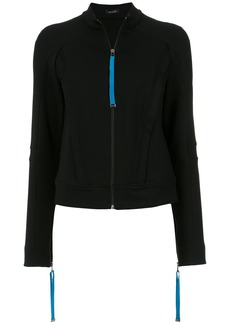Tufi Duek panelled track coat - Black