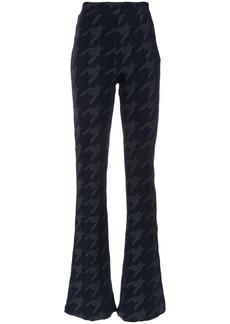 Tufi Duek pied de poule print flared trousers - Unavailable