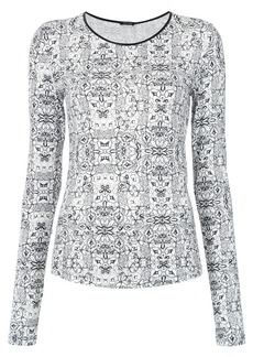 Tufi Duek printed longsleeved blouse - White