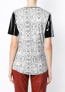 Tufi Duek printed panelled T-shirt - White