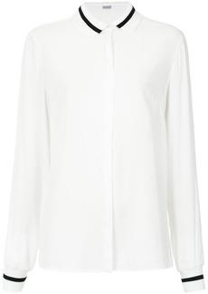 Tufi Duek ribbed trim bicolor shirt - White