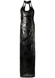 Tufi Duek sequin panels gown - Black