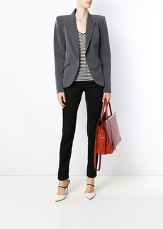 Tufi Duek striped longsleeved blouse - Black