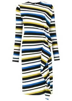 Tufi Duek striped side drape dress - Multicolour