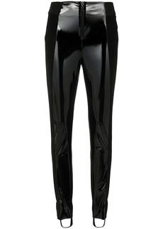Tufi Duek vinyl panelled stirrup trousers - Black